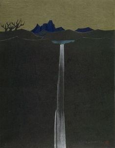 Kanamori Yoshio: Lake and Mountain, Shôwa period, - Harvard Art Museum