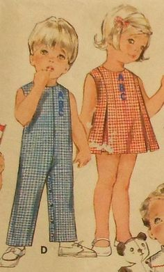 Vintage Toddler Dress and Playsuit Sewing Pattern. #Vintage #Inspiration
