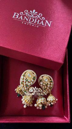 1 Gram Gold Jewellery, Gold Jewelry, Fine Jewelry, Gold Jhumka Earrings, Diamond Earrings, Jewelry Photography, Photography Ideas, Crochet Flowers, Fabric Flowers