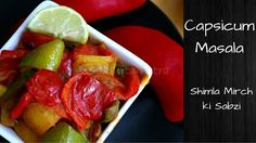 Capsicum Masala/ Shimla Mirch ki sabzi is easy to make recipe.Capsicum is such a versatile vegetable. If you have lees time & lot of capsicum. Indian Food Recipes, Vegetarian Recipes, Ethnic Recipes, Shimla, Indian Curry, Potato Recipes, Potatoes, Vegetables, Easy