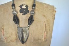 Metal STATEMENT Necklace / 1970s chunky festival