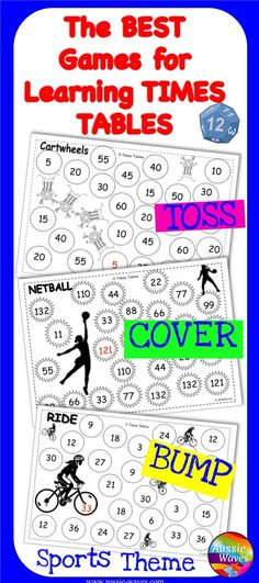 Fun printable games for Times Tables Great Maths Centre activity - multiplication table
