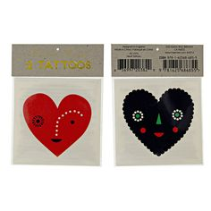 Wear Your Heart on Your Sleeve ! Temp Tattoos by MeriMeri at www.theoriginalpartybagcompany.co.uk