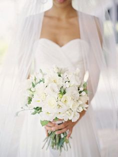 #White #Wedding #Bouquet #Ideas … Wedding ideas for brides, grooms, parents & planners https://itunes.apple.com/us/app/the-gold-wedding-planner/id498112599?ls=1=8 … plus how to organise an entire wedding, within ANY budget ♥ The Gold Wedding Planner iPhone #App ♥ http://pinterest.com/groomsandbrides/boards/ for more #cascade #teardrop #posy #hand #tied #arm #sheath #bouquets