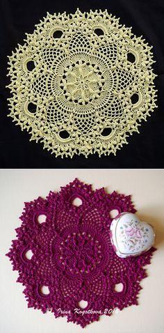 Стирки: шаблон Барбара по благодати Ферон Crochet Doily Patterns, Crochet Mandala, Crochet Doilies, Knit Patterns, Crochet Mask, Knit Crochet, Lace Decor, Lace Doilies, Crochet Round