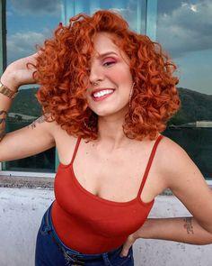 Top 23 Long Curly Hair Ideas of 2019 - Style My Hairs Blonde Curly Hair, Short Curly Hair, Curly Hair Styles, Natural Hair Styles, Natural Red Hair, Hair Junkie, Ginger Hair, Hair Looks, New Hair