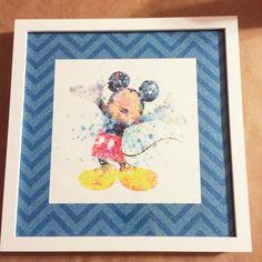 Items similar to Mickey Mouse Pre-Framed art work on Etsy Framed Art, Custom Art, Vintage