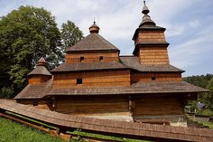 wooden church at Zboj Timber Structure, World Religions, Small Windows, Bratislava, Castle, Saint Nicholas, Cabin, Retelling, Cathedrals