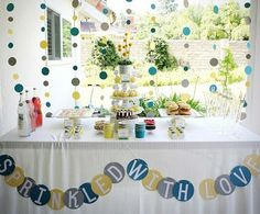 Cheap Baby Boy Shower Supplies Baby Sprinkle, Sprinkle Shower, Sprinkle Party, Shower Party, Baby Shower Parties, Baby Shower Themes, Shower Ideas, Bridal Shower, Baby Party
