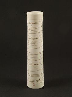 Junction Art Gallery Single Stem Vase I - Glazed and sanded handthrown porcelain SIZE Height: Width: SHIPPING The cost of sending by Royal Mail special delivery within the UK is Lisa Hammond, Ali, Art Gallery, Ceramics, Winter, Ceramica, Winter Time, Art Museum, Pottery