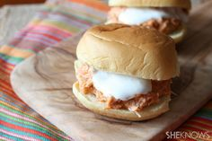 Try Slow cooker Buffalo chicken sliders on Martin's 12 Slice Potato Rolls!