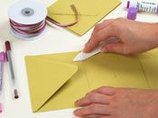 Such a simple use of envelopes.... imagine it made with homemade envelopes in beautiful papers or with linings.