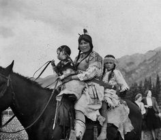 Photo: Assiniboine - 1948  Assiniboine people are Native American/First Nations people originally from the Northern Great Plains of the United States and Canada