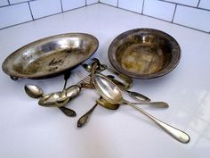 how to clean silver easily, cleaning tips, how to Measuring Spoons, Oven, Tips, Cleaning, Advice, Ovens, Counseling