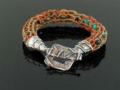 Knitting spool bracelet