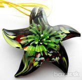 Krásne MURANO SKLO hviezda na žltej stužke 8e Green Beans, Vegetables, Vegetable Recipes
