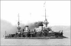Vintage photographs of battleships, battlecruisers and cruisers.: French predreadnought battleship Masséna.