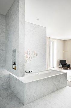 Bathroom - Penthouse V in Belgium by Egg Interieur Architecten