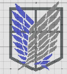 Geekie Crafts Attack on Titan Wings of Freedom Cross Stitch
