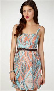 tribal patterned dress