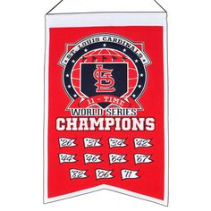 MLB Baseball St. Louis Cardinals 14x22 Heavy Wool with Embroidery Sport Team Logo 11 Time World Series Champions Banner #2026 -- Awesome products selected by Anna Churchill