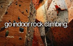 #283: Go indoor rock climbing - Check! (Couldn't actually scale a whole wall.)