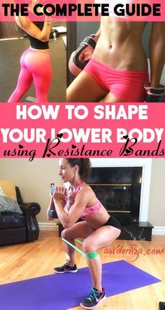 Resistance band exercises to build your lower body: Legs, hamstrings, glutes, quadriceps are the main focus. Build muscle and burn fat at home! @askdeniza                                                                                                                                                     More
