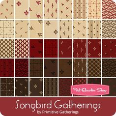 "Songbird Gatherings Jelly Roll Primitive Gatherings for Moda Fabrics - Jelly Rolls & 2.5"" Strips 