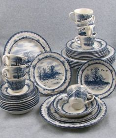 Bob Timberlake's Riverwood dinnerware pattern
