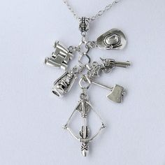 """The Walking Dead Inspired Charm Necklace with 24"""" Chain"""