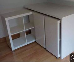 Wonderful Snap Shots Retractable storage furniture with Ikea Kallax shelves, DIY decoration from Ikea H . Strategies The IKEA Kallax collection Storage furniture is an important part of any home. Ikea Toy Storage, Desk Storage, Storage Hacks, Cube Storage, Craft Storage, Bedroom Storage, Diy Bedroom, Storage Ideas, Bedroom Ideas