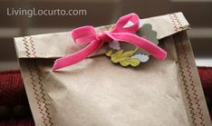 Homemade Gift bag Sewing Craft - Living Locurto
