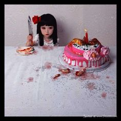 Children as Dolls - These dramatic photos are the work of Chinese painter and photographer, Zhang Peng.  Peng manipulates the eyes of his child subjects and gives them...