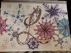 This is for you, Linda . I know you must be sick of snow by now but I saw your snowflakes board , so I thought I'd draw you some  .:-)♥ wendy H. 2014