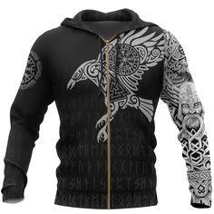 Hoodie Sweatshirts, Zip Hoodie, Harajuku Mode, Harajuku Fashion, Mens Viking Costume, Tatoo 3d, Tattoo Ink, Arm Tattoo, Sleeve Tattoos