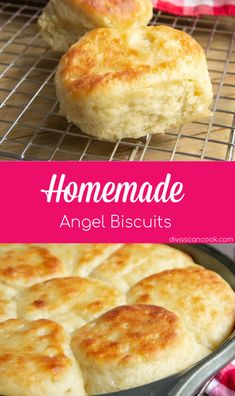 Angel Biscuits, Flaky Biscuits, Biscuits From Scratch, Recipe From Scratch, Easy Dinner Recipes, Great Recipes, Favorite Recipes, Homemade Buttermilk Biscuits, Recipe For Homemade Biscuits