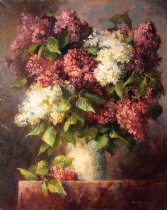Vegetable Prints, Still Life Art, Vintage Flowers, Oeuvre D'art, Les Oeuvres, Painting Flowers, Lilacs, Art Floral, Fine Art