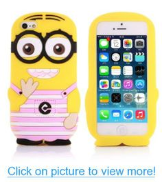 Cute 3D Cartoon Despicable Me 2 Minions Soft Silicone Case Cover For iPhone 5 5C 5S (Pink)