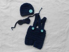 3pc Jumper outfit hat bow tie and shorts size by DesignsbyKieshia, $18.00