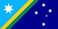 Australian flag proposal by Mike Archer Australian Flags, Flag Design, Green And Gold, Proposal, Flag Ideas, Ferrari Laferrari, Miniatures, Buntings, Symbols