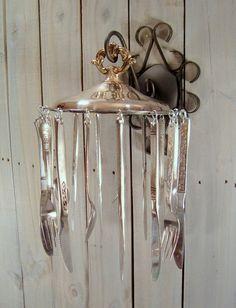 Silverware Wind Chime Sun Catcher, Handmade from Vintage Silverware, Repurposed