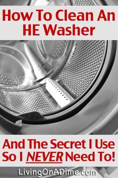 How To Clean A Front Load Washer & Why I Never Need To! How To Clean A Front Load He Washing Machine And The Secret Trick I Use So I Never Need To! You don't even have to buy a washer cleaner or make homemade washer cleaner! Deep Cleaning Tips, House Cleaning Tips, Natural Cleaning Products, Cleaning Solutions, Spring Cleaning, Cleaning Hacks, Cleaning Recipes, Cleaning Rugs, Cleaning Mold