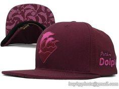 8ffc32af795 Pink Dolphin Waves Snapback Summer Cap