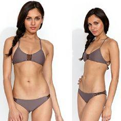 Posh pua lena crochet bikini taro brown top halter Lena crochet racerback halter bikini top in taro brown by posh pua. Medium. No trade please. The price is firm Posh Pua Swim Bikinis