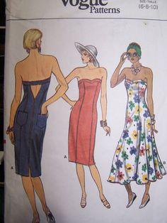 Vintage Vogue Sewing Pattern Sundress Vogue 9619
