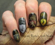 Game Of Thrones nail art by brkrulesntnails from Nail Art Gallery