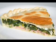 Tarta de Verdura - Pascualina con Acelga, Jamón, Queso y Huevo - YouTube