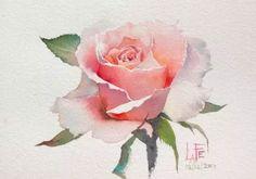 Акварельные розы тайского художника ЛаФе-2