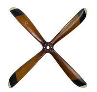 4 Blade Wood Propeller Large Wood Wall Sculpture Wooden