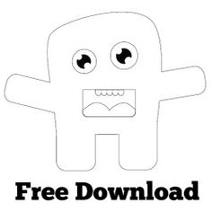 Monster Patterns Free | dailyplush com freebies free monster plush pattern